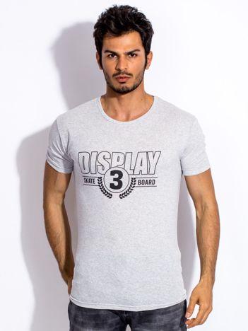 Szary t-shirt męski DISPLAY