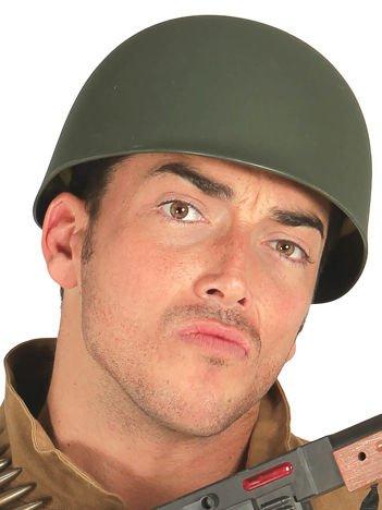 Szary wojskowy hełm żołnierza