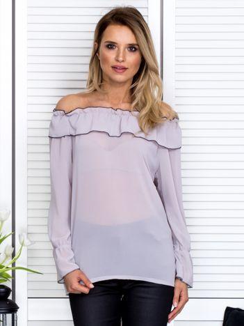 Szyfonowa bluzka hiszpanka szara