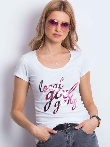 T-shirt biały Local Girl Gang