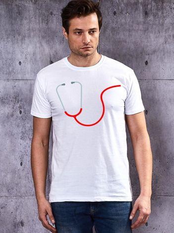 T-shirt dla par z nadrukiem biały