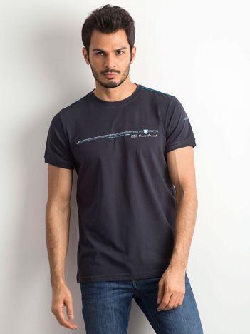 T-shirt męski bawełniany granatowy