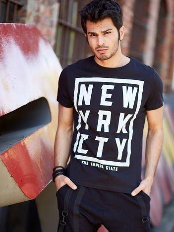 T-shirt męski czarny New York City