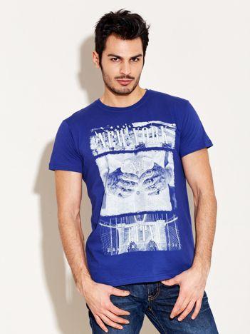 T-shirt męski granatowy New York