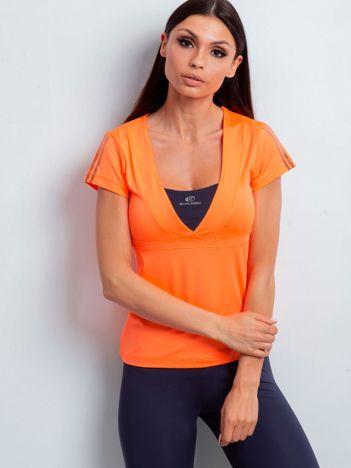 T-shirt z wycięciem na plecach pomarańczowy