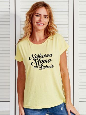 T-shirt żółty NAJLEPSZA MAMA NA ŚWIECIE