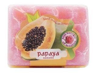 THE ROSE Peelingujące mydło-gąbka Papaja 70 g