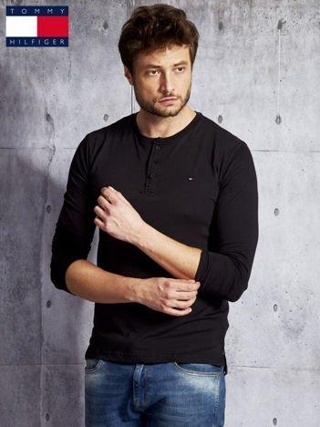 TOMMY HILFIGER Czarna bluzka męska z guzikami