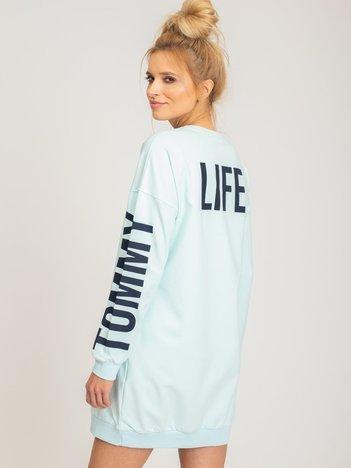 TOMMY LIFE Miętowa sukienka