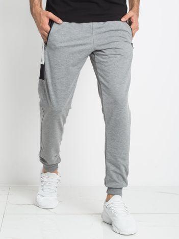TOMMY LIFE Spodnie szare męskie
