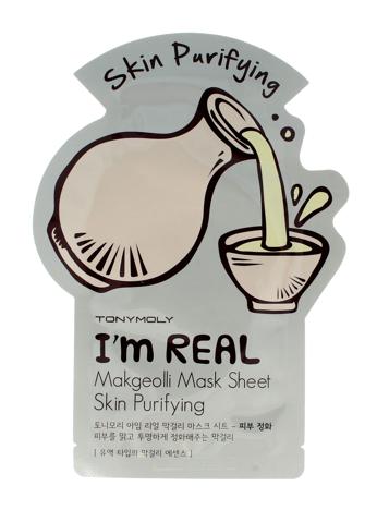 TONY MOLY I'M REAL Makgeolli Oczyszczająco-detoksykująca koreańska maska w płachcie 21g