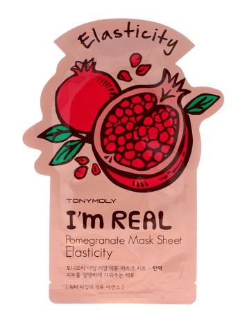 TONY MOLY I'M REAL Pomegranate Uelastyczniająca koreańska maska w płachcie z ekstraktem z granatu 21g