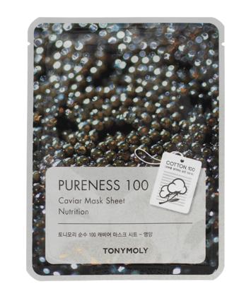 TONY MOLY PURENESS 100 Kawior Koreańska odżywcza maska na płachcie 21ml