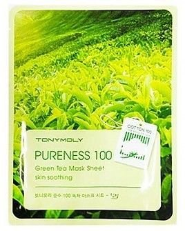 TONY MOLY PURENESS 100 Zielona Herbata Koreańska przeciwtrądzikowa maska na płachcie 21ml