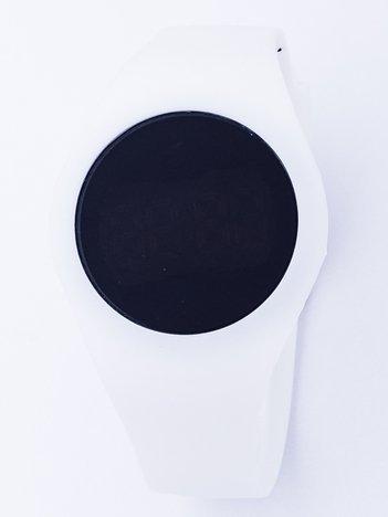 TOUCHBAND Elektryczny biały zegarek