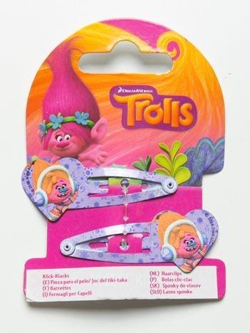 TROLLE Zestaw 2 szt. fioletowych spinek do włosów dla dziewczynki