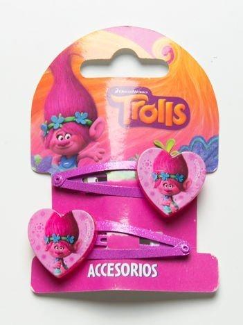 TROLLE Zestaw 2 szt. różowych spinek do włosów dla dziewczynki