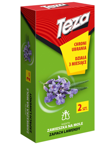 Teza Zawieszka na mole - zapach lawendowy - 2 szt.