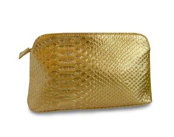 Torba kosmetyczna SINCERO złota (23x3,8x15,3)