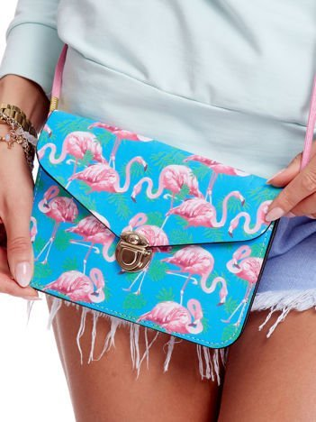 Torebka Damska Kopertówka Flamingi