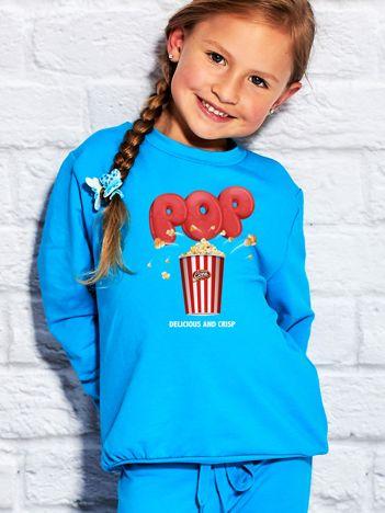 Turkusowa bluza dziecięca DELICIOUS POPCORN