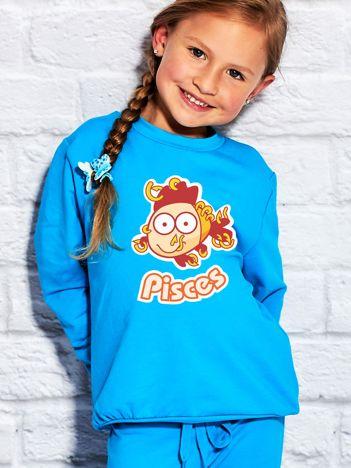 Turkusowa bluza dziecięca znak zodiaku RYBY