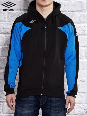 UMBRO Czarna ocieplana bluza chłopięca z kontrastowymi wstawkami
