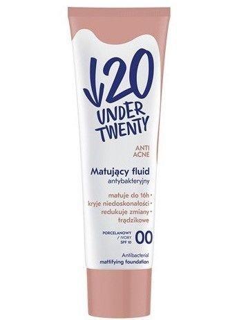 Under Twenty Matujący fluid antybakteryjny 00 porcelanowy 30 ml