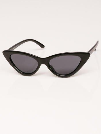 VIP LIFE Okulary przeciwsłoneczne damskie czarne szkło szare