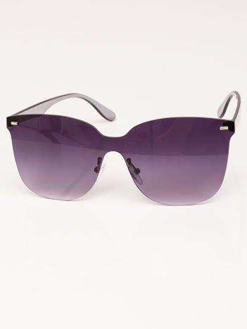 VIP LIFE Okulary przeciwsłoneczne damskie czarne szkło szaro-fioletowe