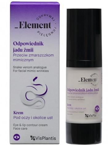 Vis Plantis Element Odpowiednik Jadu Żmii Krem pod oczy i okolice ust przeciw zmarszczkom mimicznym 30 ml