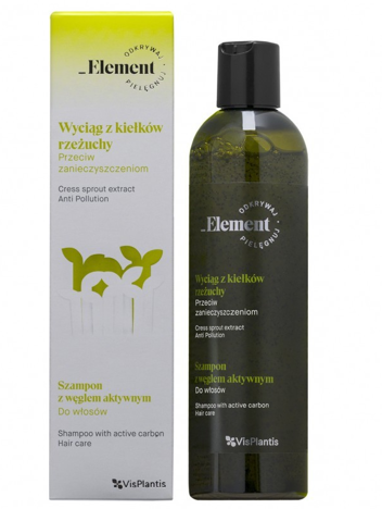 Vis Plantis Element Wyciąg z Kiełków Rzeżuchy Szampon do włosów z węglem aktywnym przeciw zanieczyszczeniom  300 ml