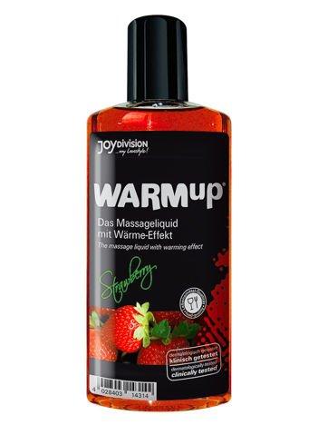 WARMup Strawberry, 150 ml Rozgrzewający żel o zapachu truskawek do erotycznego masażu ciała