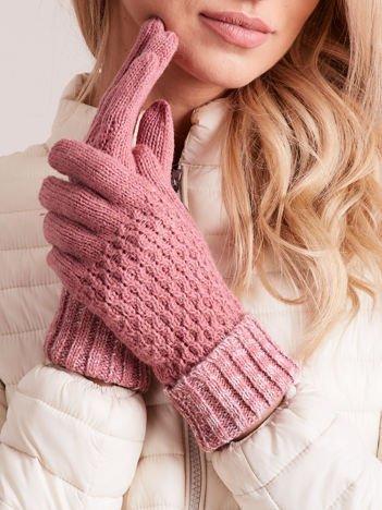 WEŁNIANE Różowe Rękawiczki