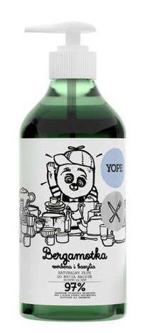YOPE Naturalny płyn do mycia naczyń Bergamotka, werbena, bazylia 750 ml