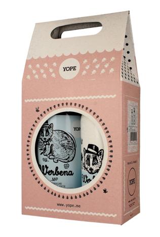 """YOPE Zestaw prezentowy Werbena (mydło w płynie 500ml+balsam do rąk i ciała 300ml)  1op."""""""
