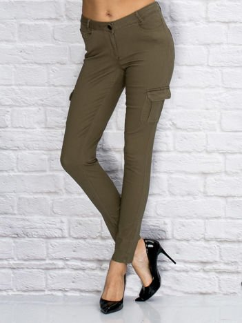 YUPS Khaki materiałowe spodnie