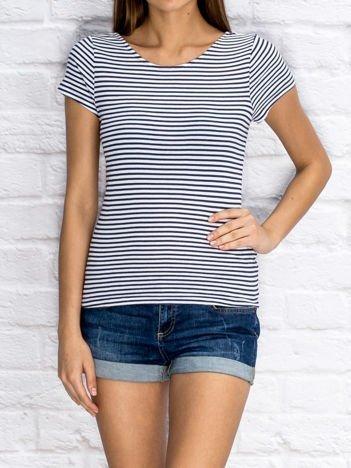 YUPS Niebieski prążkowany t-shirt w paski