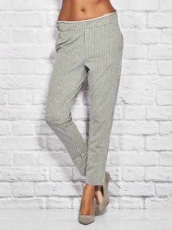 YUPS Szare spodnie w paski