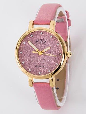 Zegarek damski Zegarek damski glitter różowy