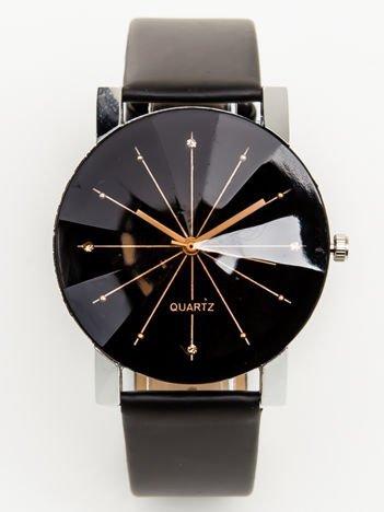 Zegarek damski srebrno-czarny