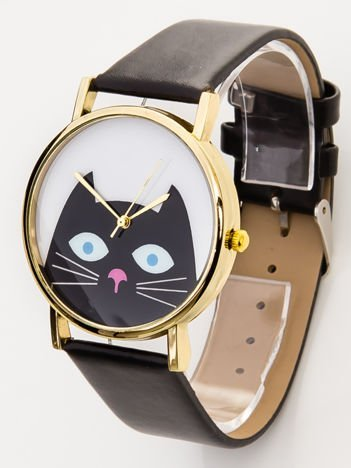 Zegarek damski z kotkiem