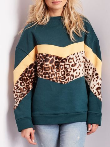Zielona bluza damska oversize