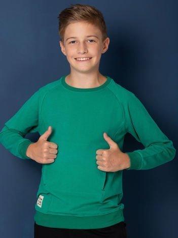 Zielona bluza dziecięca z kieszenią