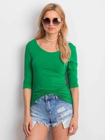 Zielona bluzka damska basic