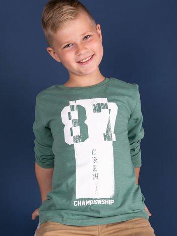 Zielona bluzka dziecięca urban print