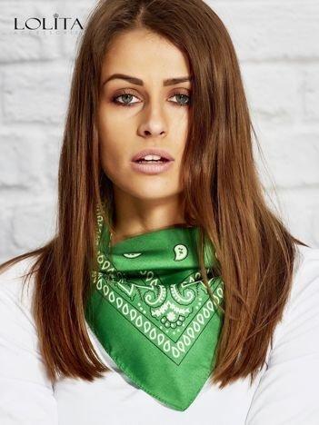 Zielona chusta bandanka