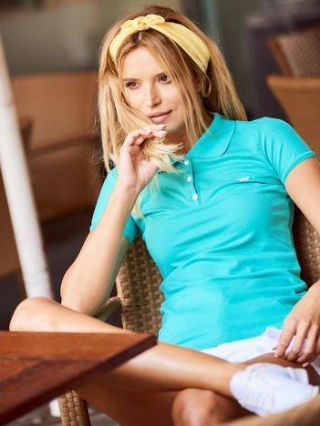 Zielona damska koszulka polo