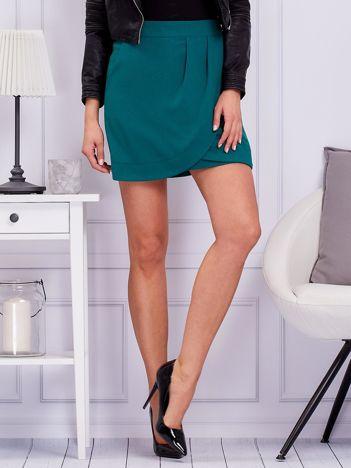 Zielona drapowana spódnica