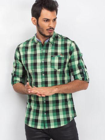 Zielona koszula męska Before